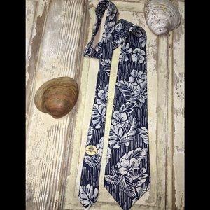 Tommy Bahama Tie - Blue Floral Luxury Silk Necktie